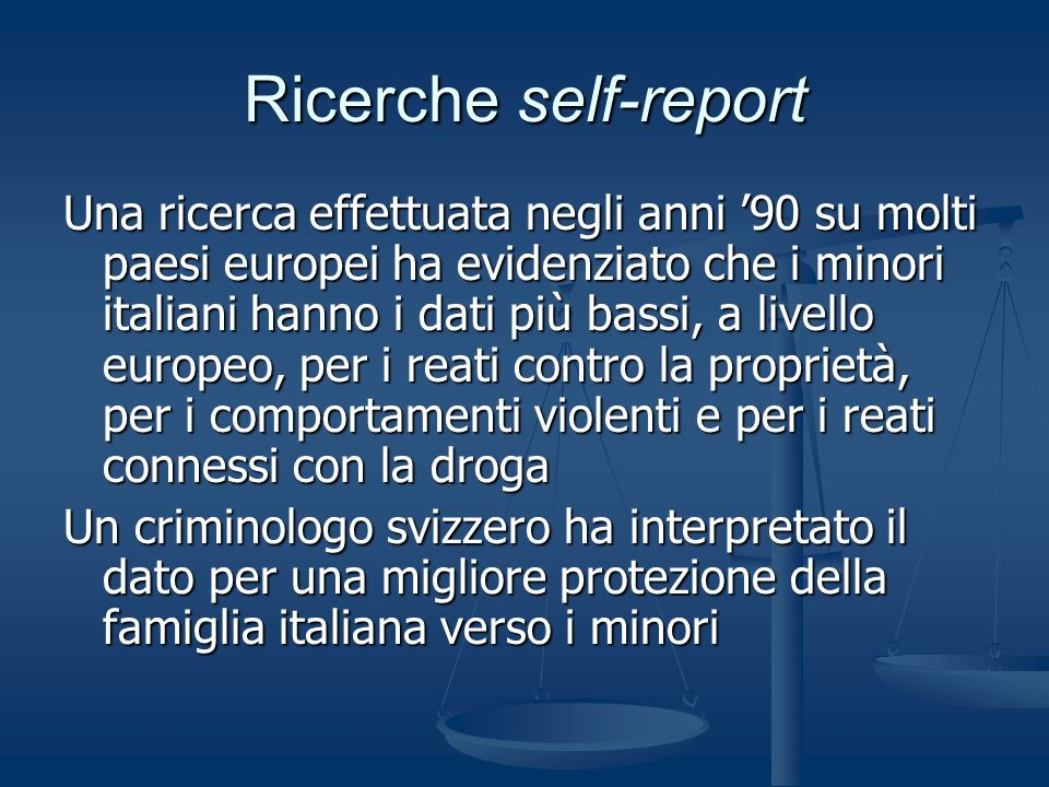 Ricerche self-report