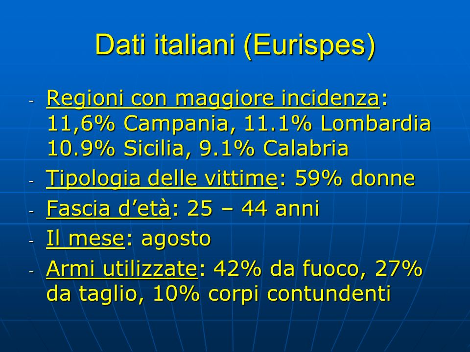 Dati italiani (Eurispes)