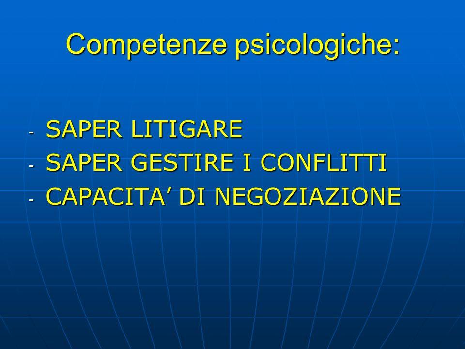 Competenze psicologiche: