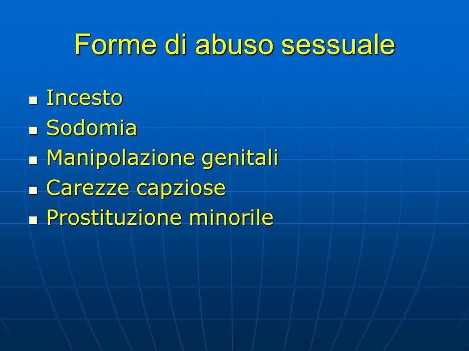 Forme di abuso sessuale