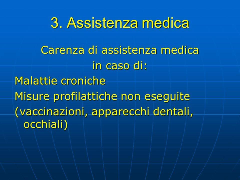 Carenza di assistenza medica