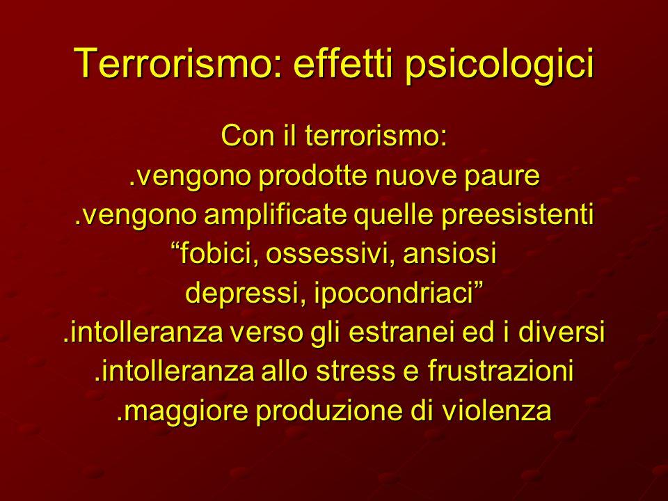 Terrorismo: effetti psicologici