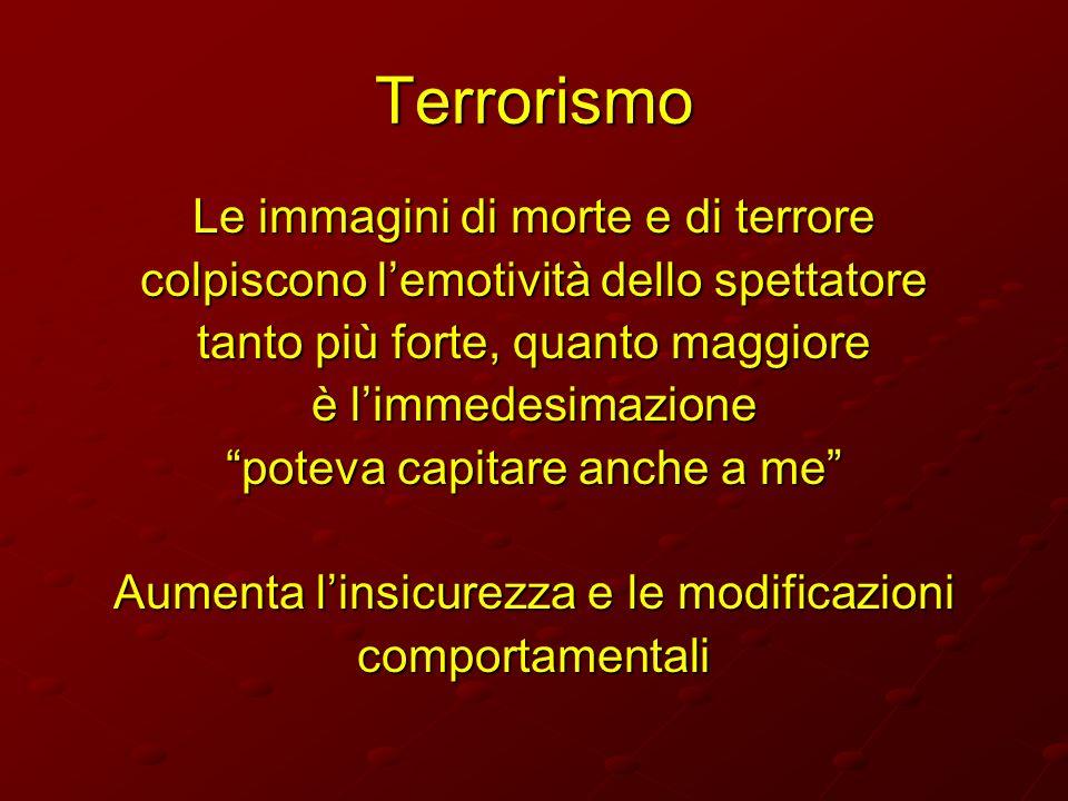 Terrorismo Le immagini di morte e di terrore