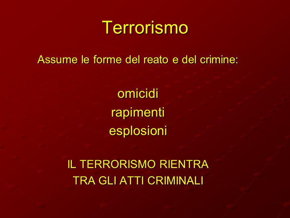 Assume le forme del reato e del crimine: