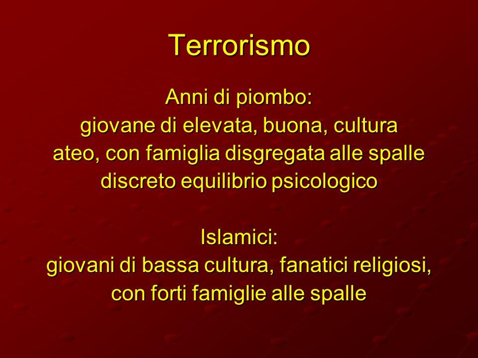 Terrorismo Anni di piombo: giovane di elevata, buona, cultura
