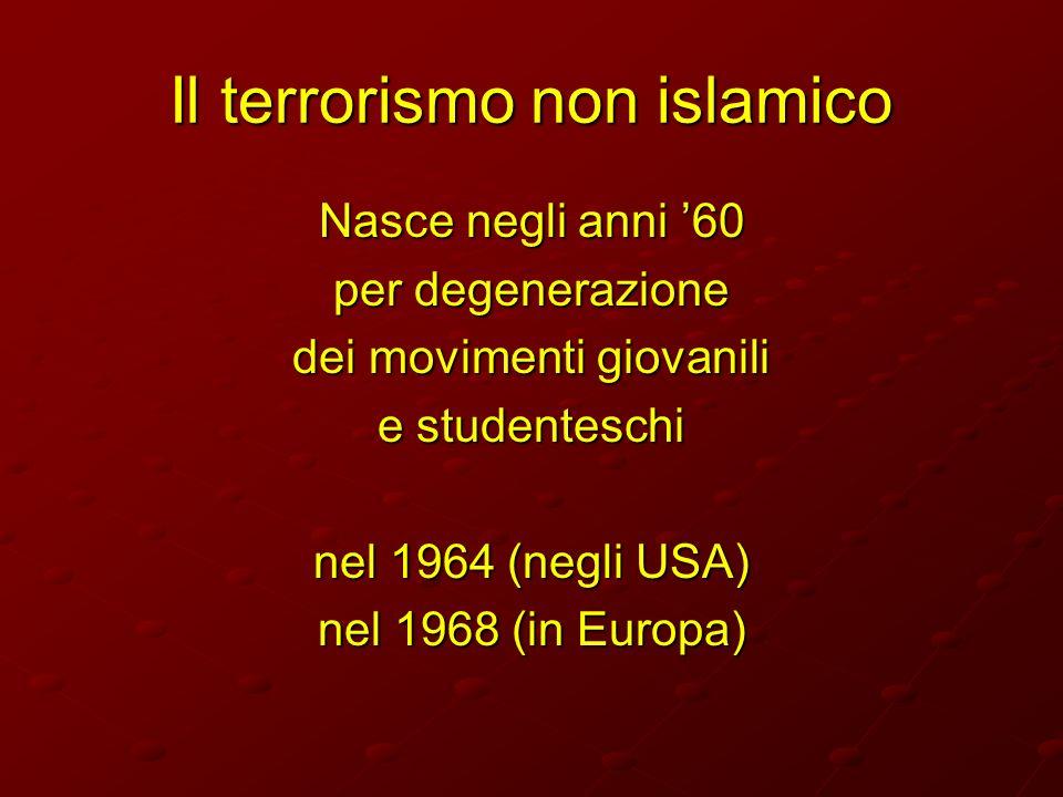 Il terrorismo non islamico