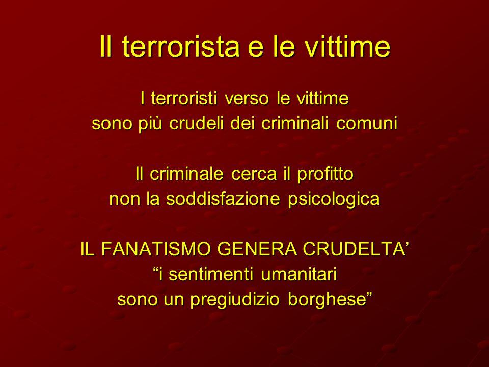 Il terrorista e le vittime