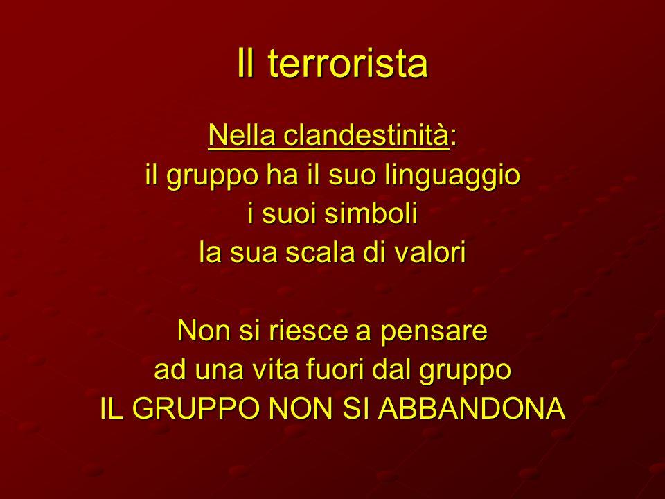 Il terrorista Nella clandestinità: il gruppo ha il suo linguaggio