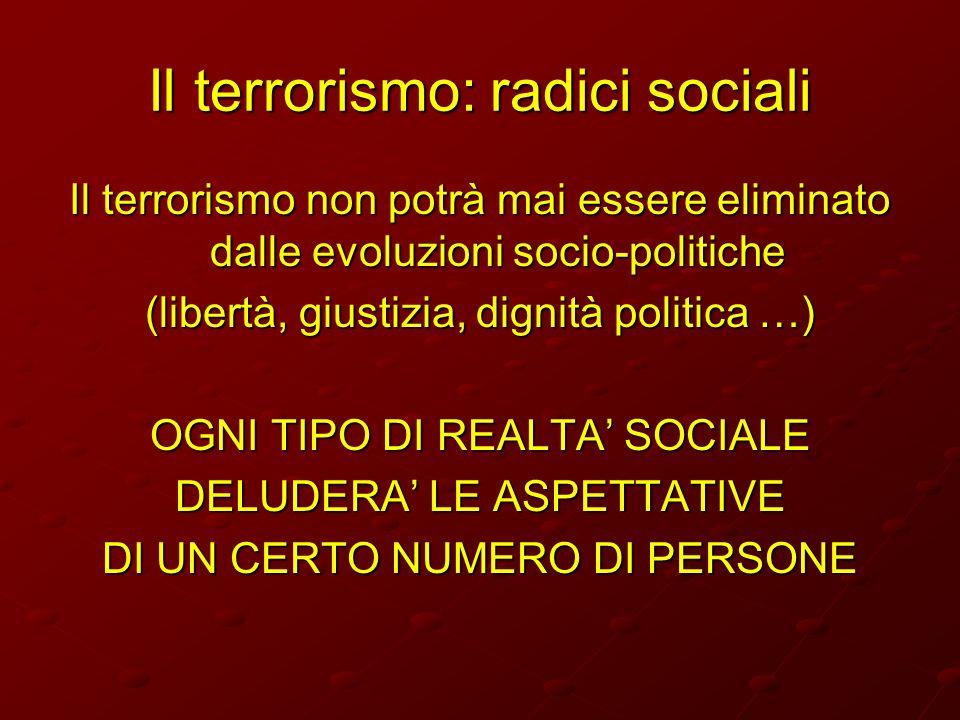 Il terrorismo: radici sociali