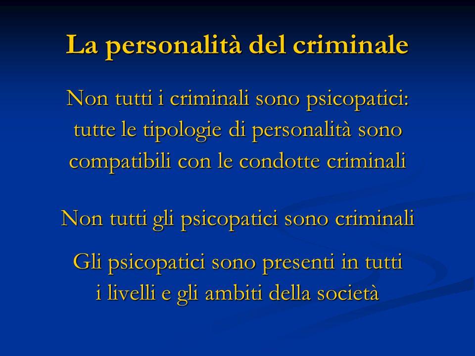 La personalità del criminale