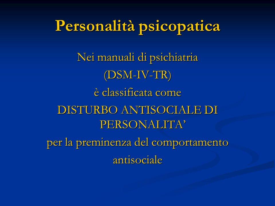 Personalità psicopatica
