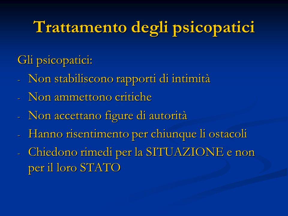 Trattamento degli psicopatici