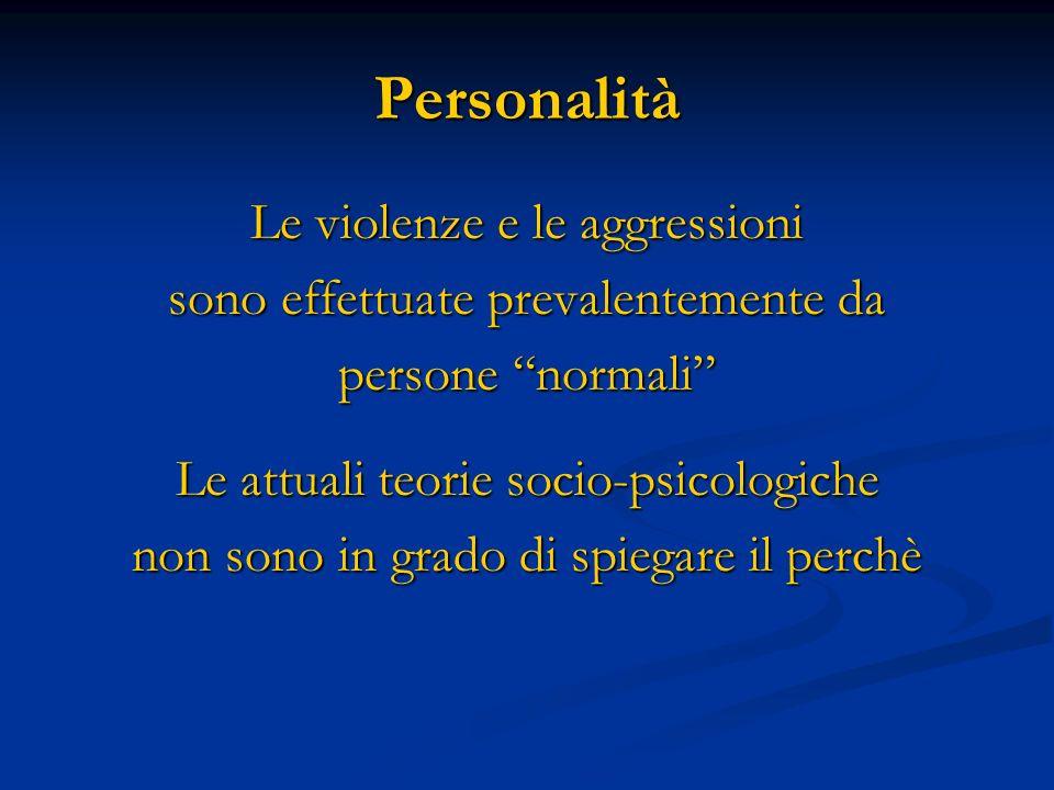 Personalità Le violenze e le aggressioni