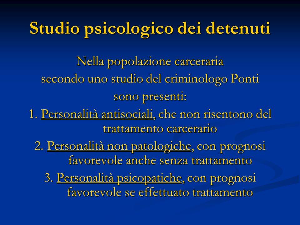 Studio psicologico dei detenuti