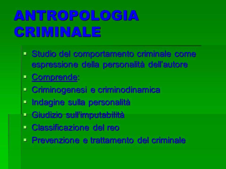 ANTROPOLOGIA CRIMINALE