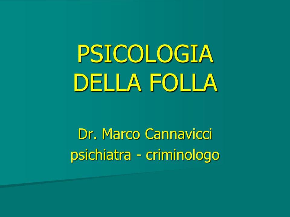 PSICOLOGIA DELLA FOLLA