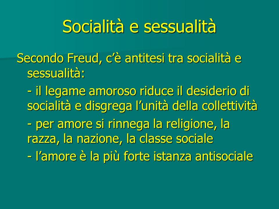 Socialità e sessualità