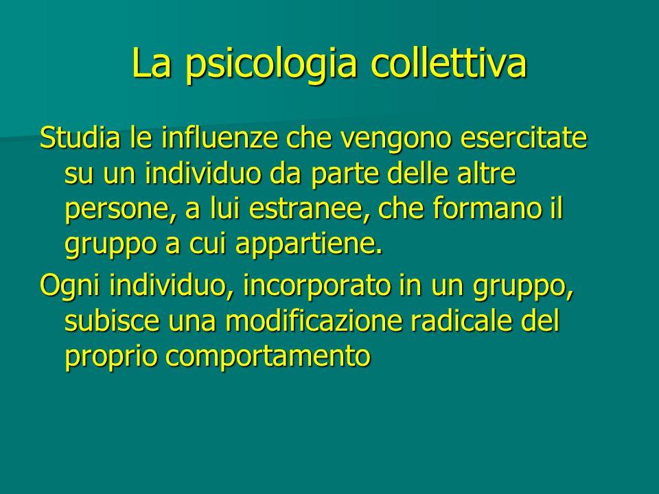 La psicologia collettiva