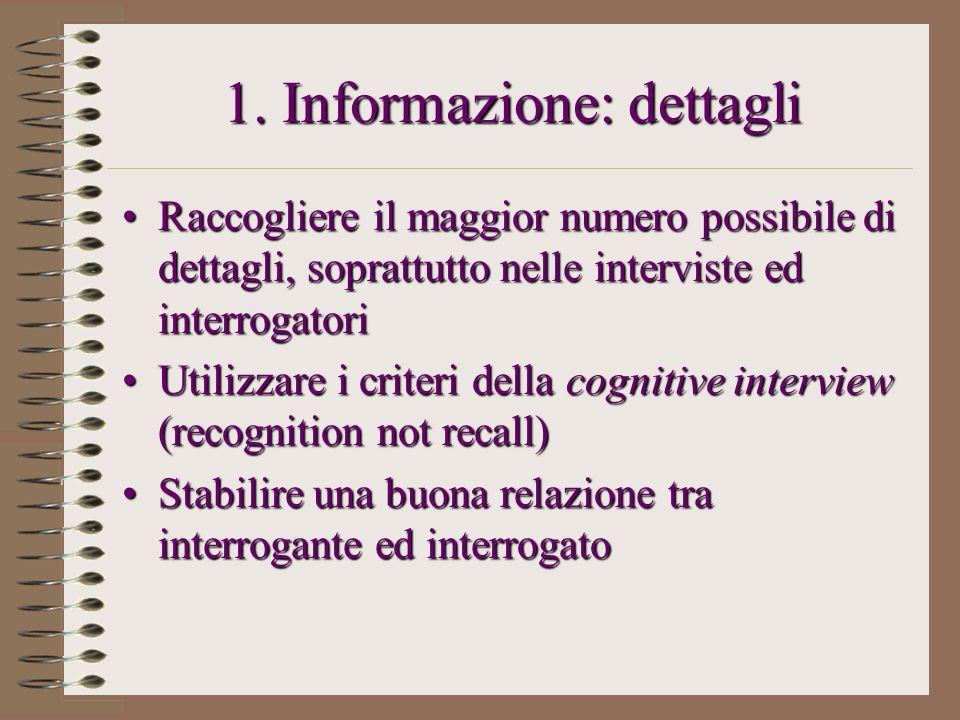 1. Informazione: dettagli