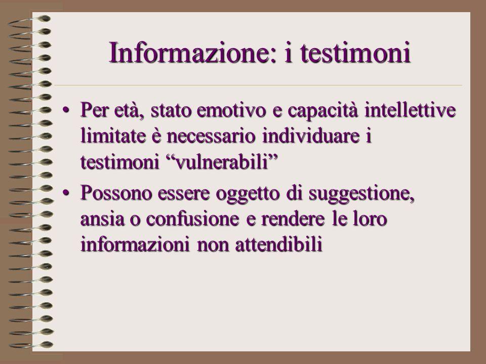 Informazione: i testimoni