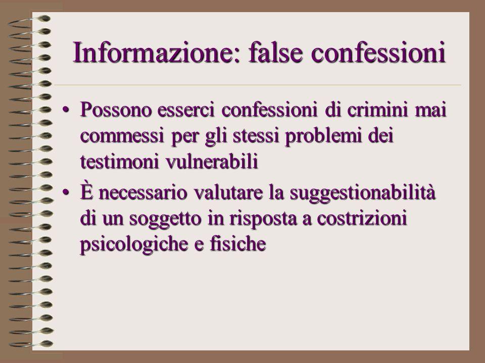 Informazione: false confessioni