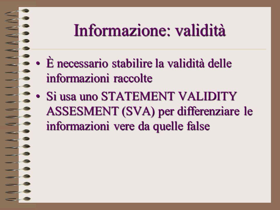 Informazione: validità