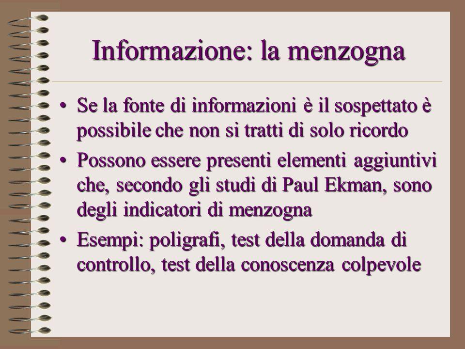 Informazione: la menzogna