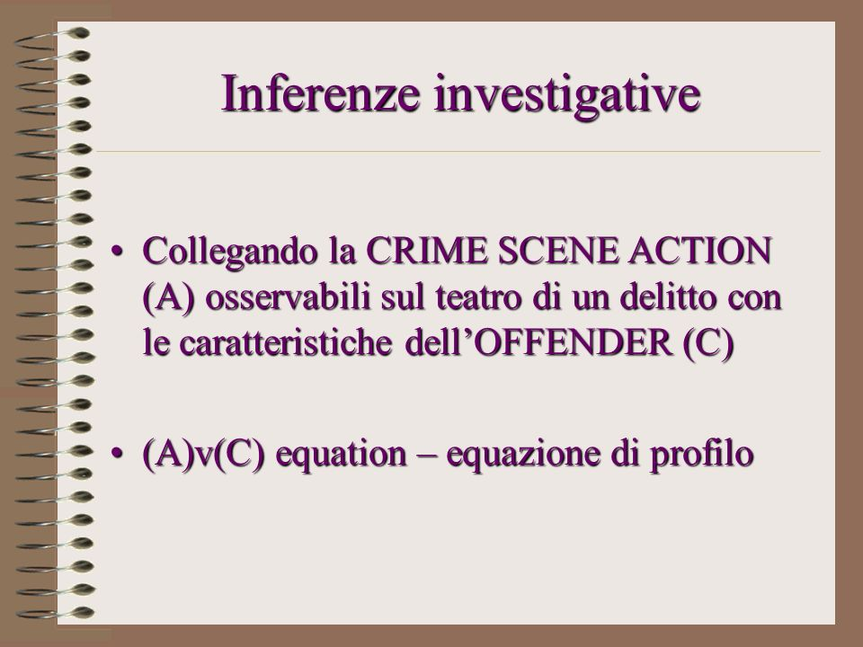 Inferenze investigative
