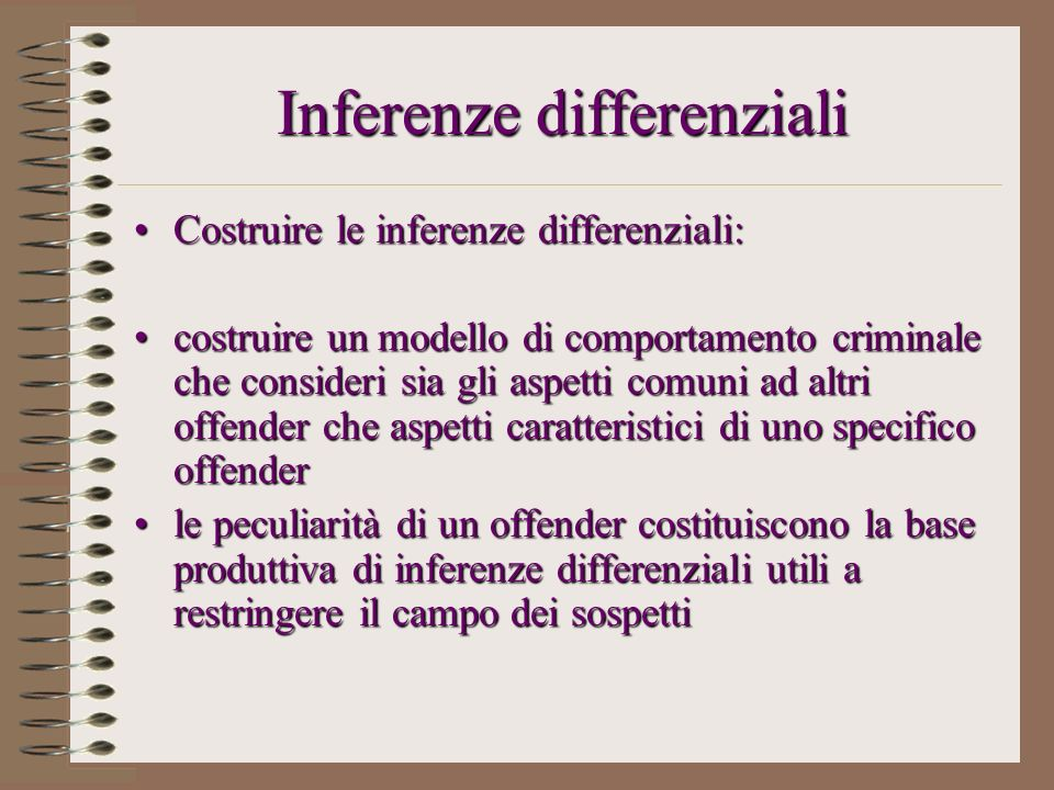 Inferenze differenziali
