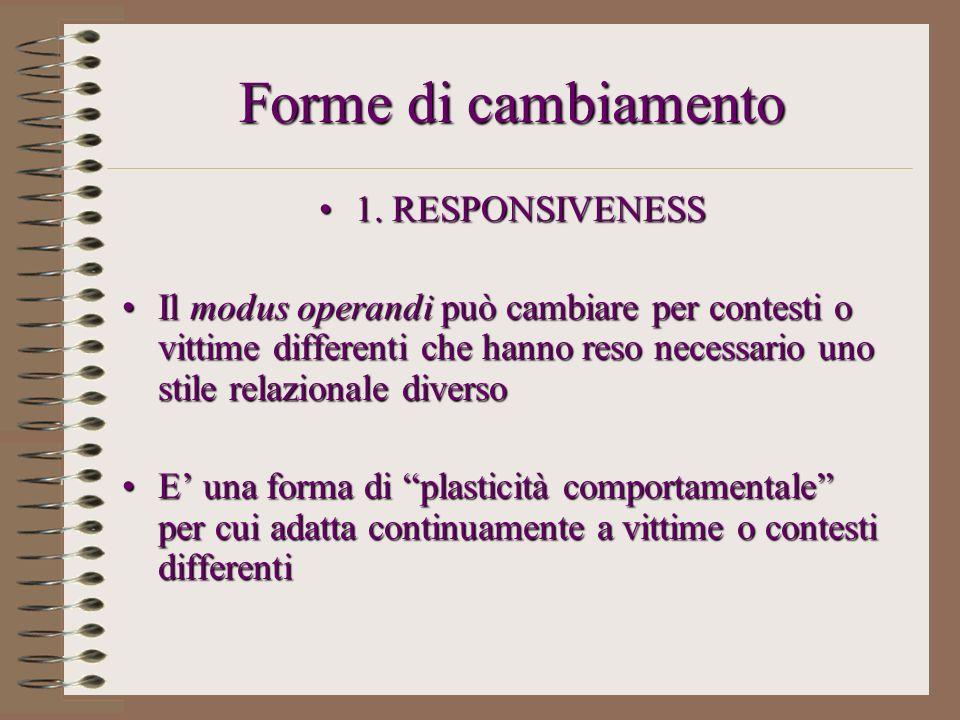 Forme di cambiamento 1. RESPONSIVENESS