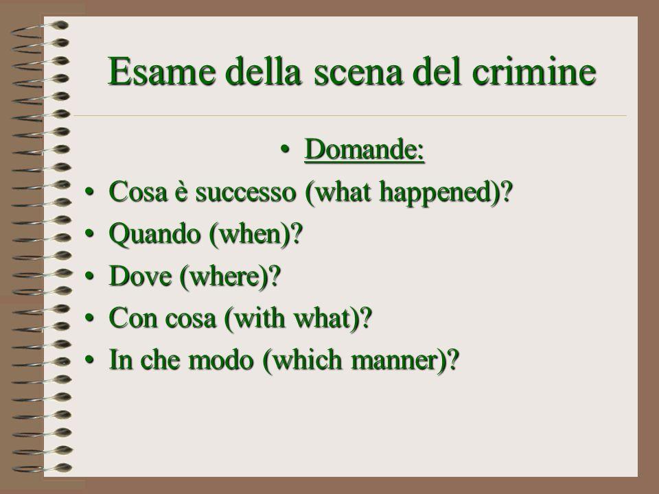 Esame della scena del crimine