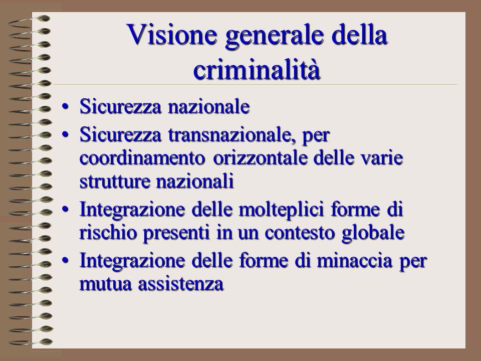 Visione generale della criminalità