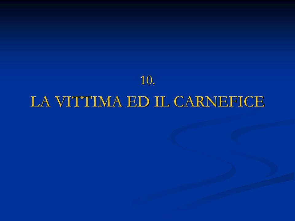 LA VITTIMA ED IL CARNEFICE