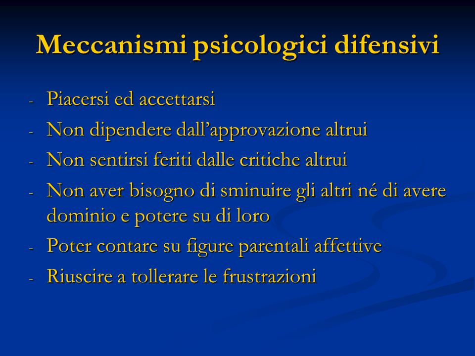 Meccanismi psicologici difensivi