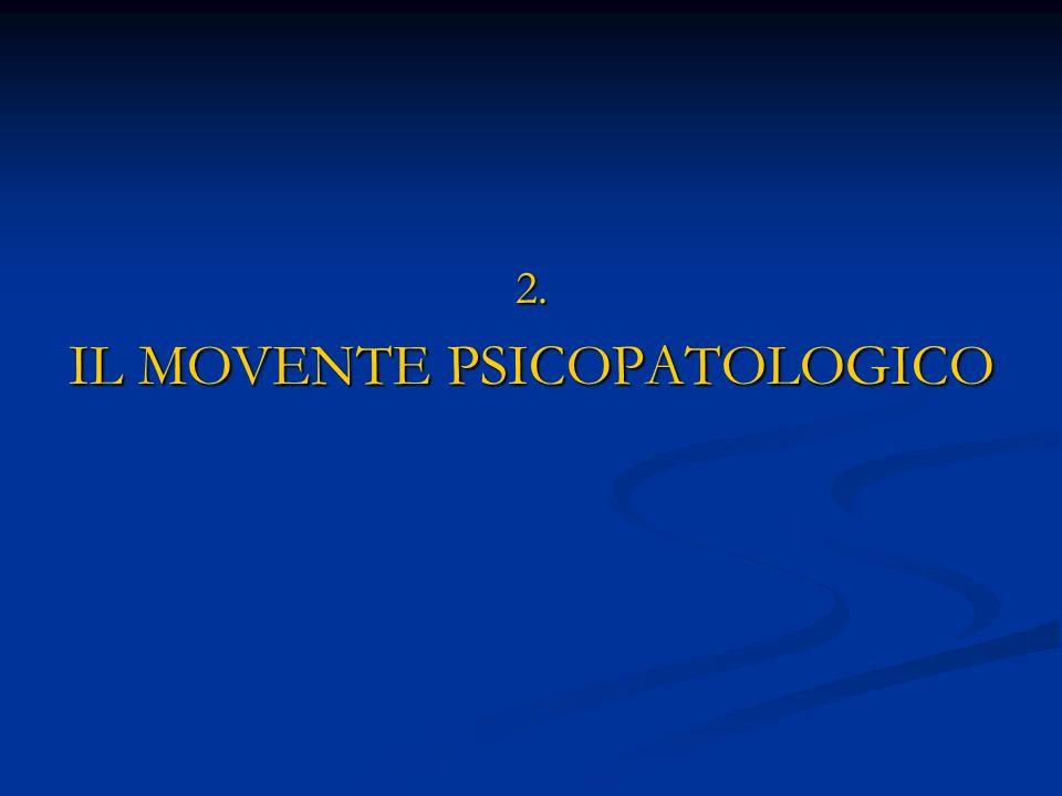 IL MOVENTE PSICOPATOLOGICO
