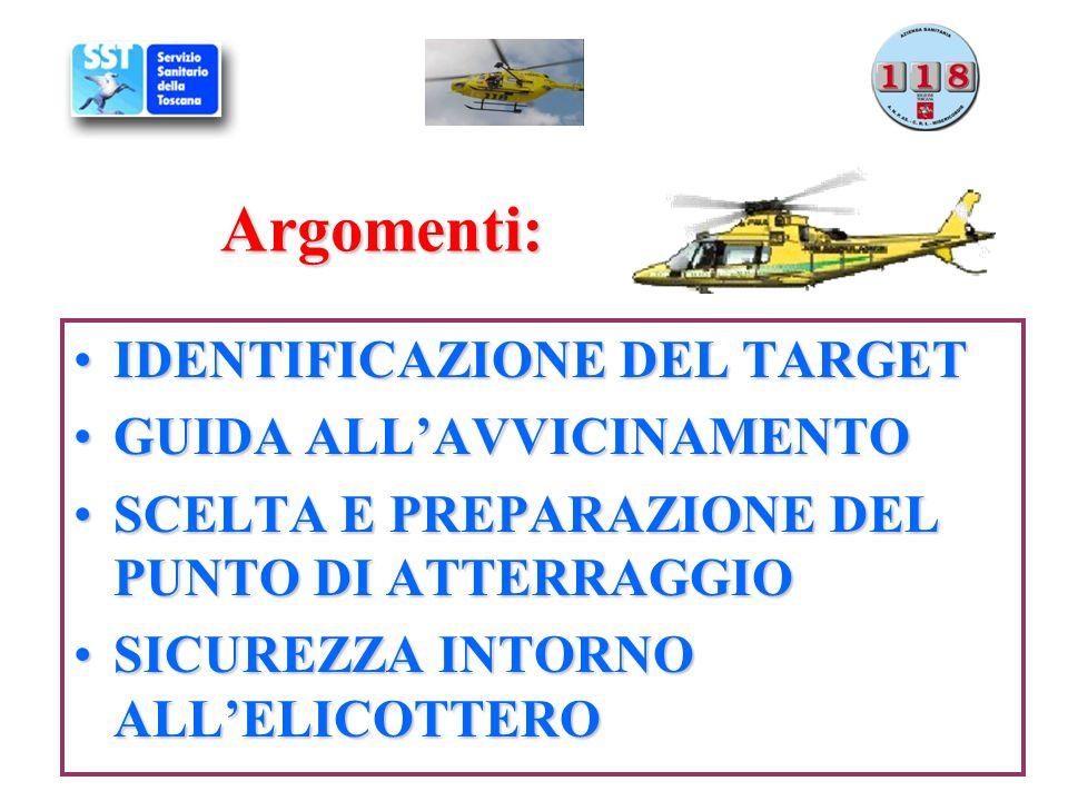 Argomenti: IDENTIFICAZIONE DEL TARGET GUIDA ALL'AVVICINAMENTO