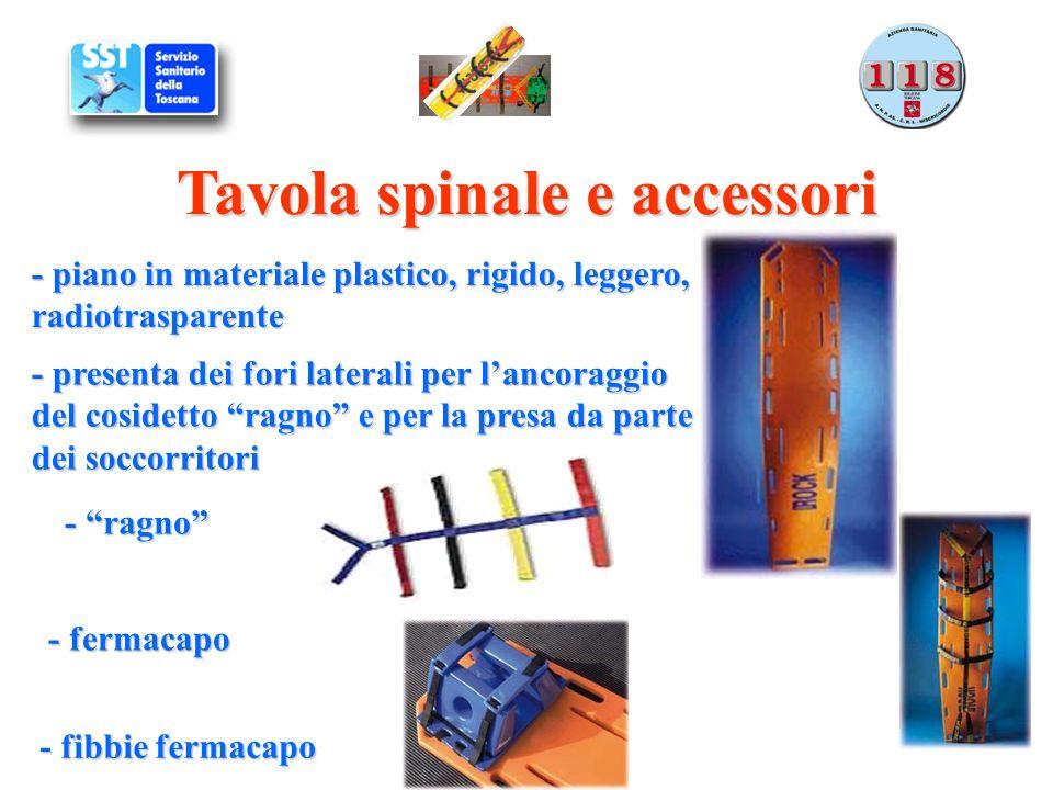 Tavola spinale e accessori