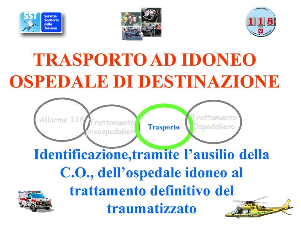 TRASPORTO AD IDONEO OSPEDALE DI DESTINAZIONE