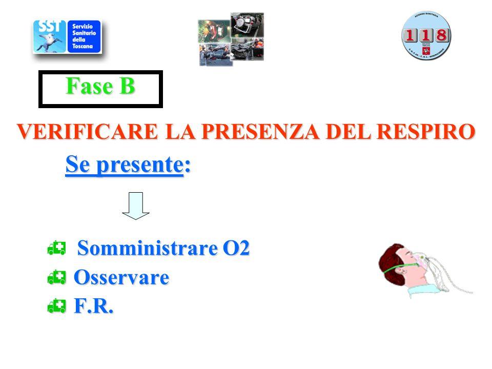 Somministrare O2 Osservare F.R.