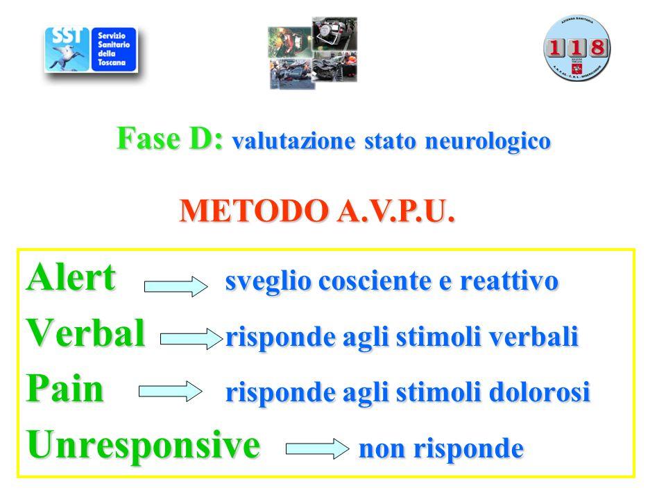 Fase D: valutazione stato neurologico