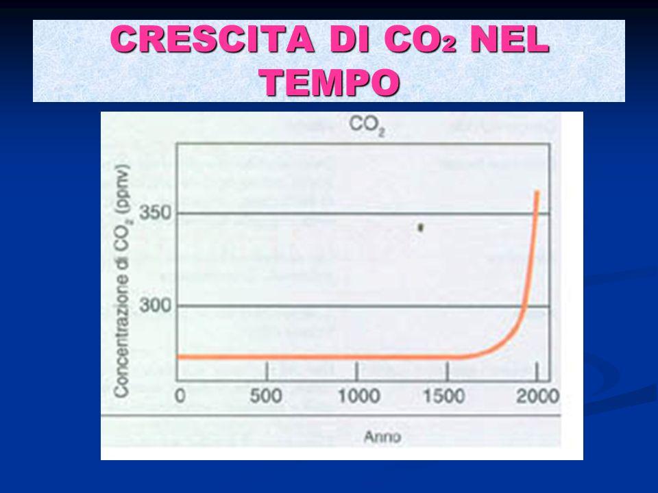 CRESCITA DI CO2 NEL TEMPO