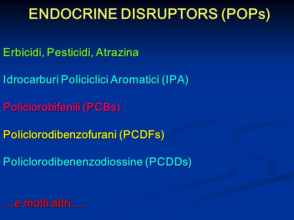 ENDOCRINE DISRUPTORS (POPs)