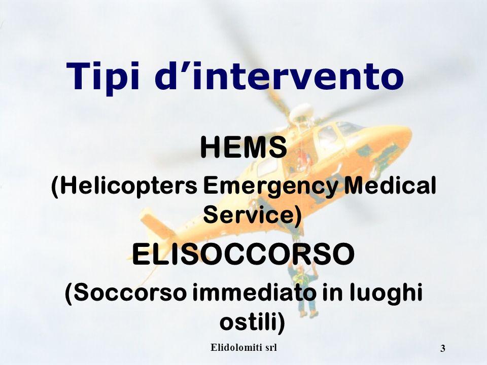 Tipi d'intervento HEMS ELISOCCORSO