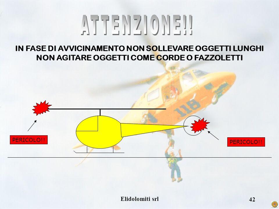 ATTENZIONE!! IN FASE DI AVVICINAMENTO NON SOLLEVARE OGGETTI LUNGHI