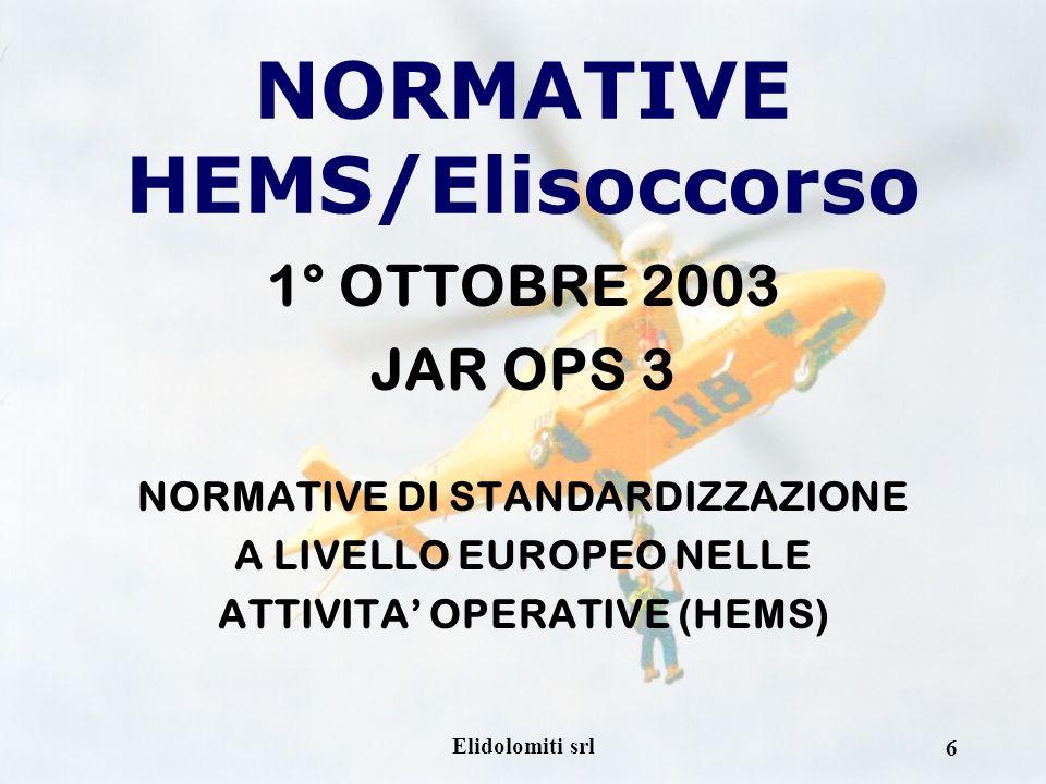 NORMATIVE HEMS/Elisoccorso