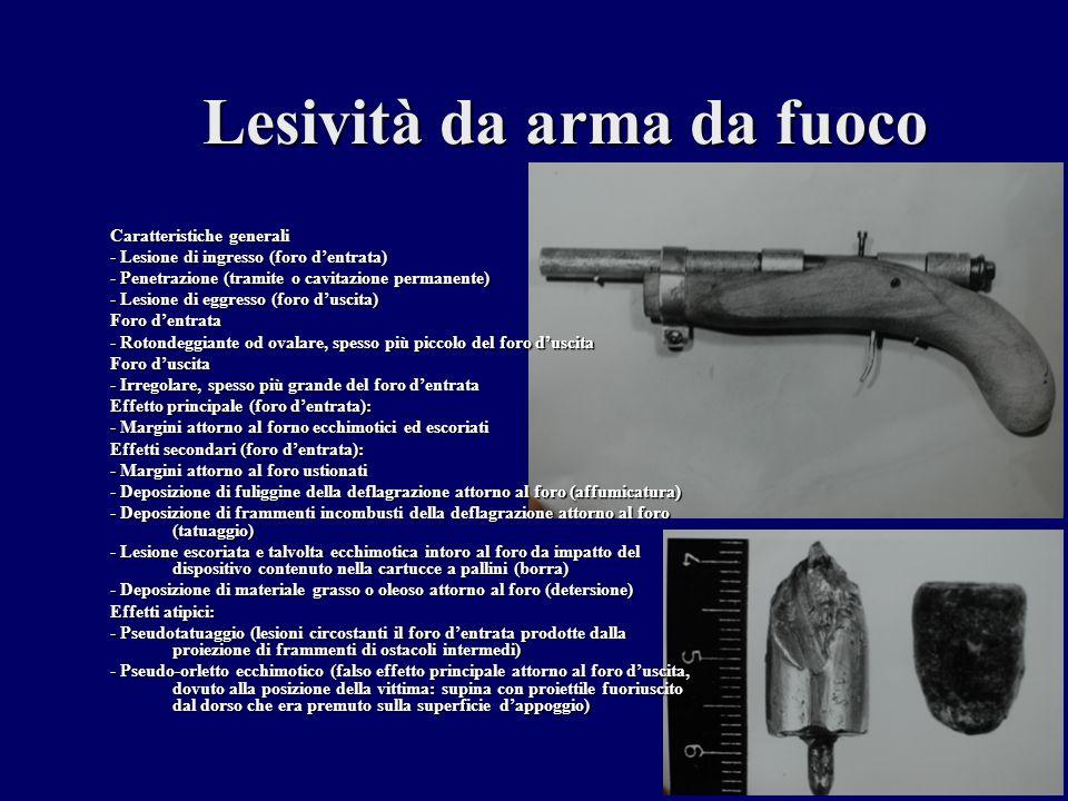 Lesività da arma da fuoco