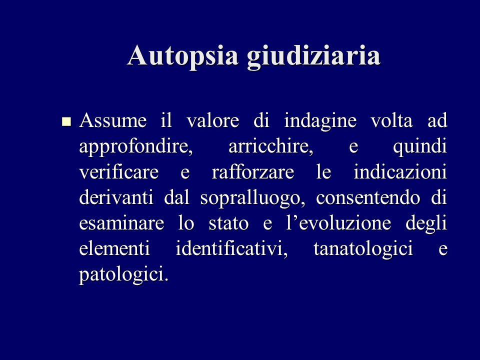 Autopsia giudiziaria
