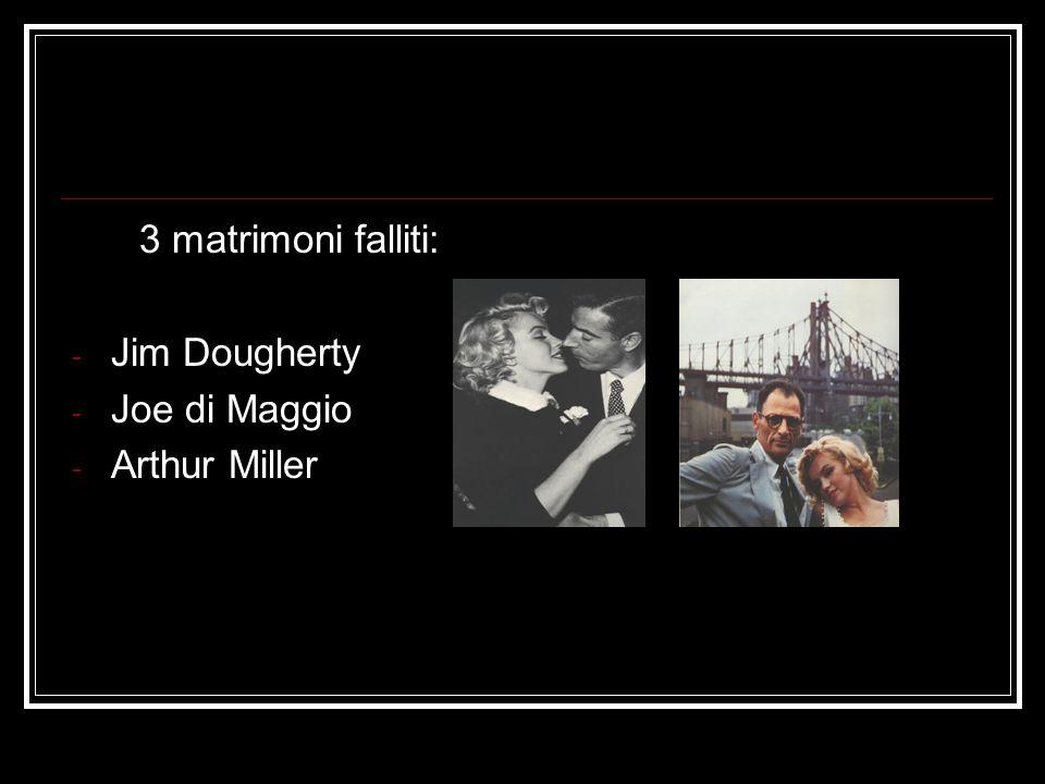 3 matrimoni falliti: Jim Dougherty Joe di Maggio Arthur Miller