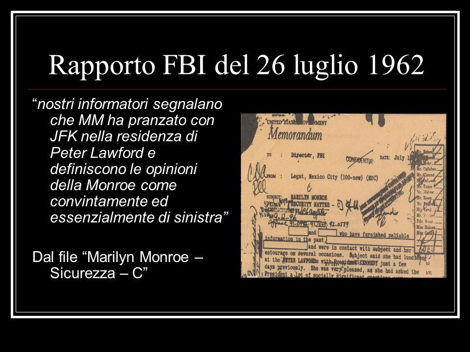 Rapporto FBI del 26 luglio 1962