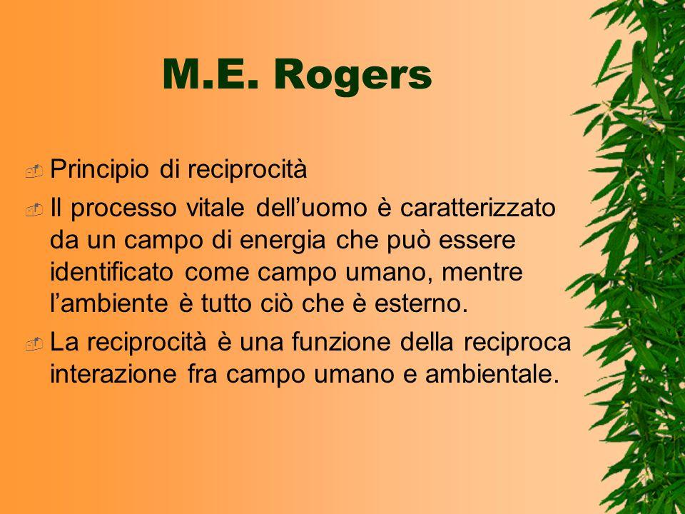 M.E. Rogers Principio di reciprocità